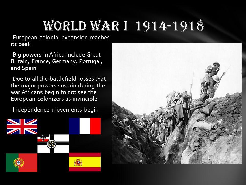 WORLD WAR I 1914-1918