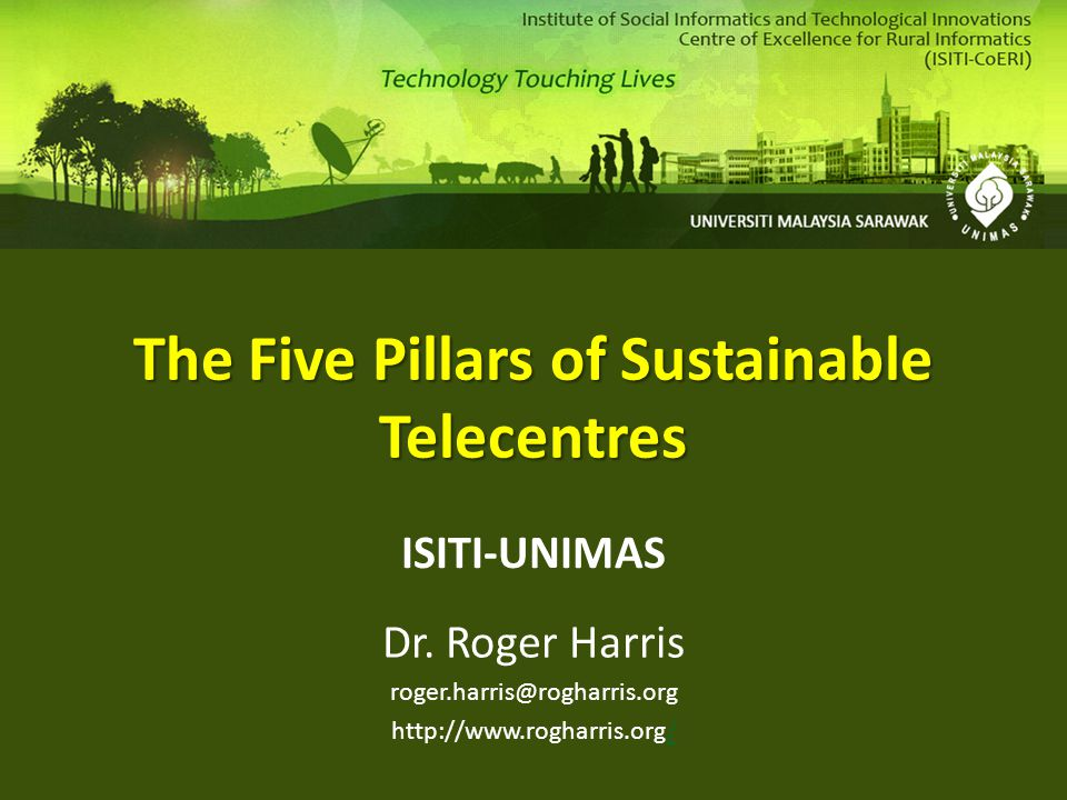 The Five Pillars of Sustainable Telecentres