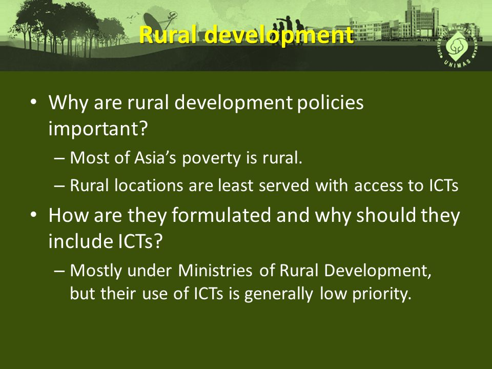 Rural development Why are rural development policies important