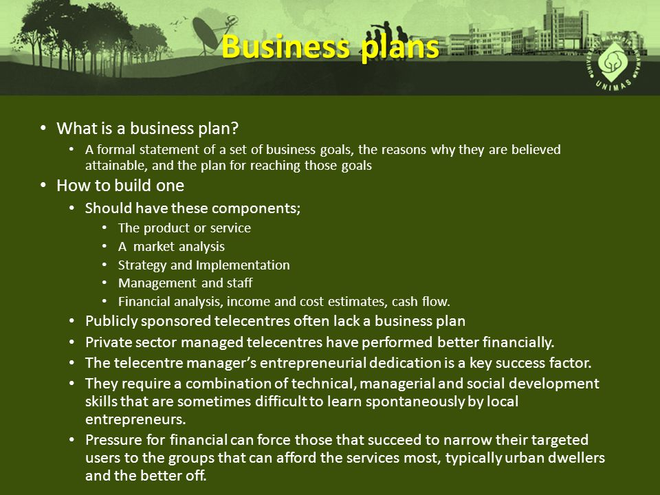 Business plans What is a business plan How to build one