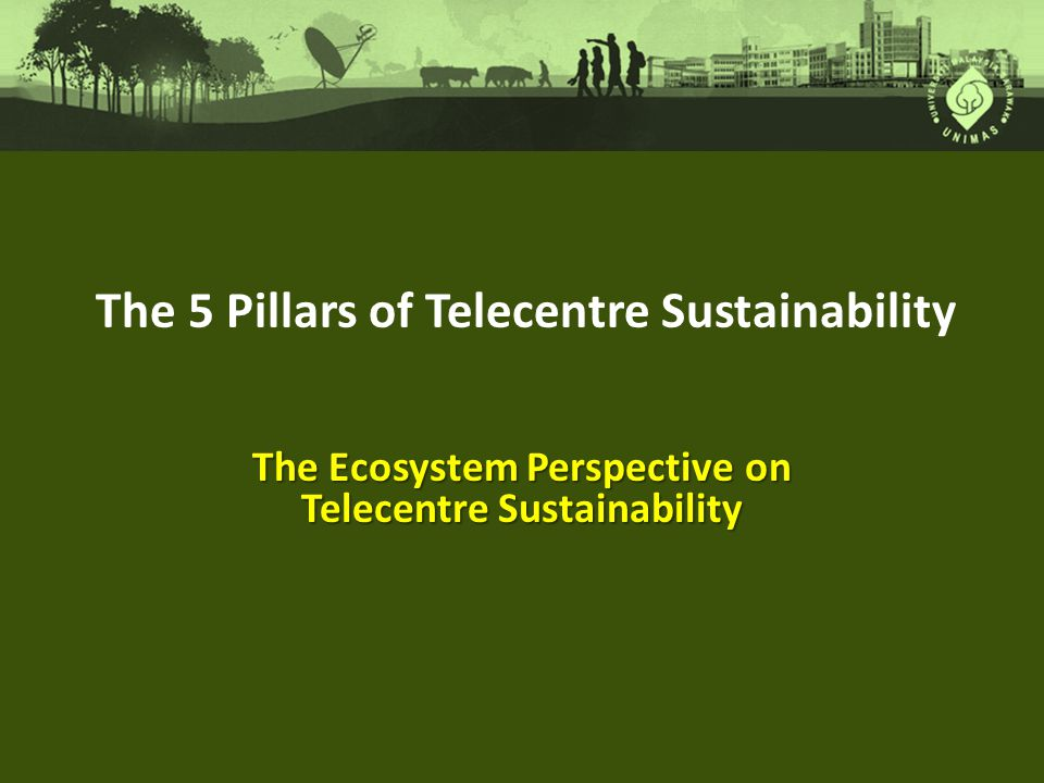 The Ecosystem Perspective on Telecentre Sustainability