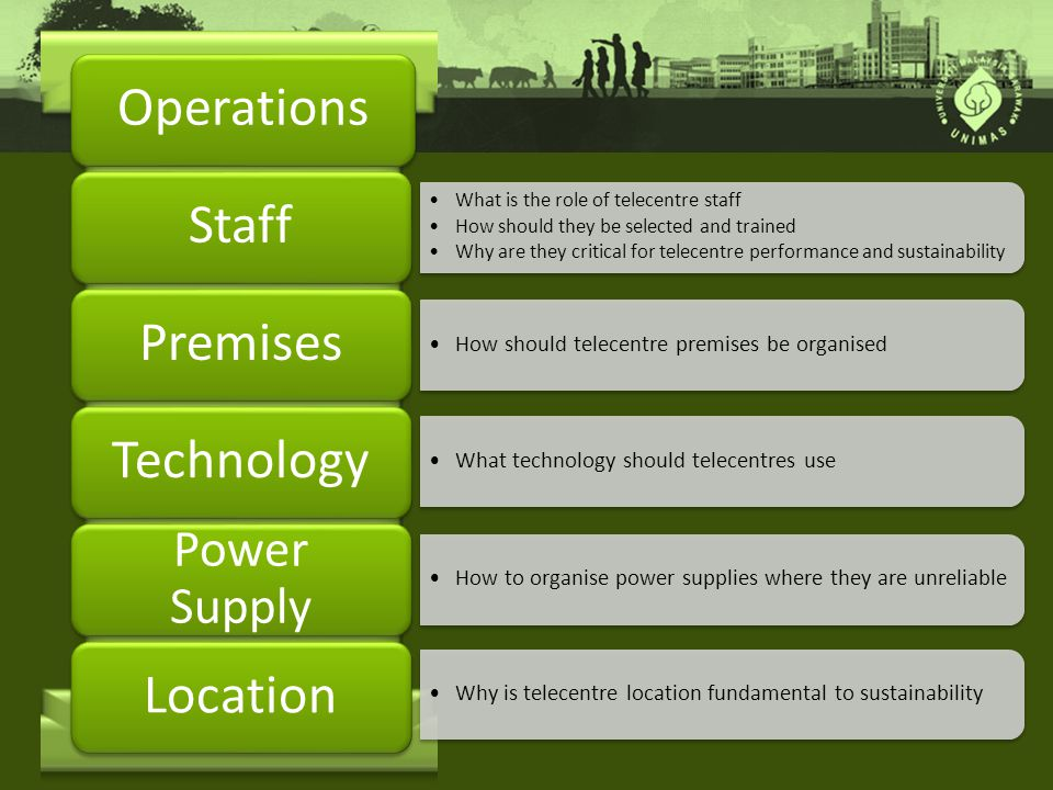 Operations Staff Premises Technology Location Power Supply