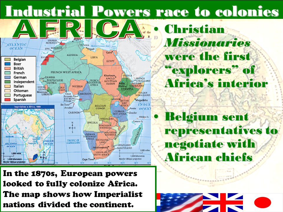 Industrial Powers race to colonies