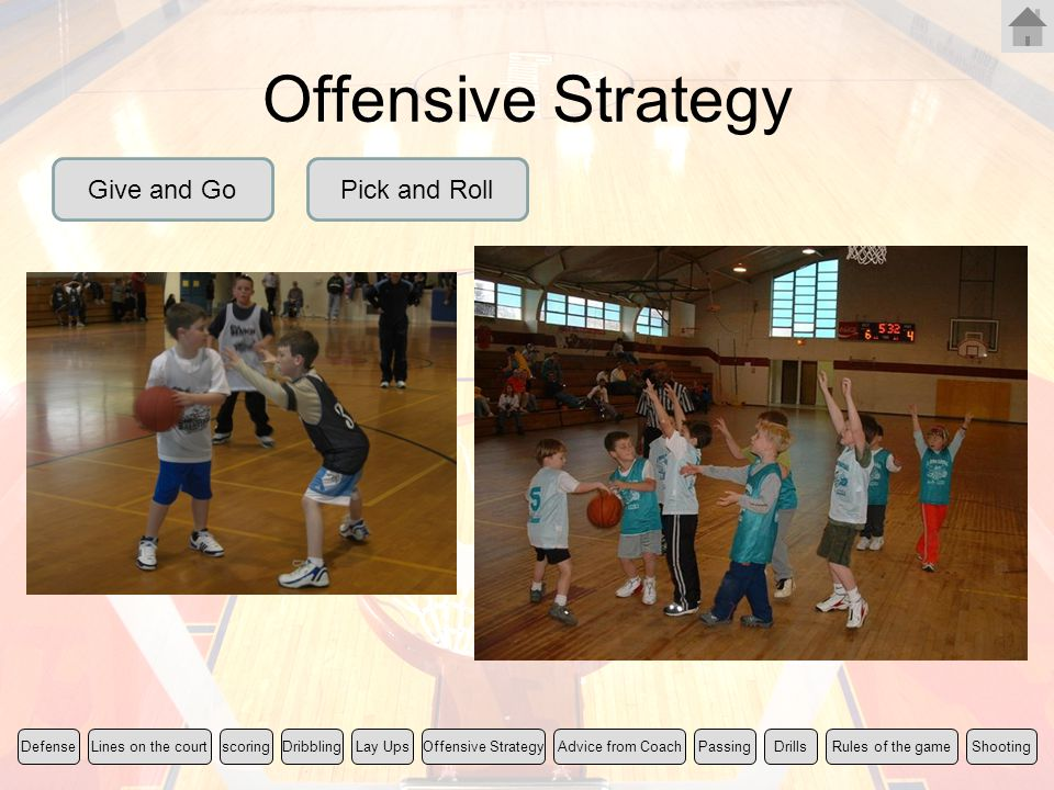 Offensive Strategy Give and Go Pick and Roll Rules of the game