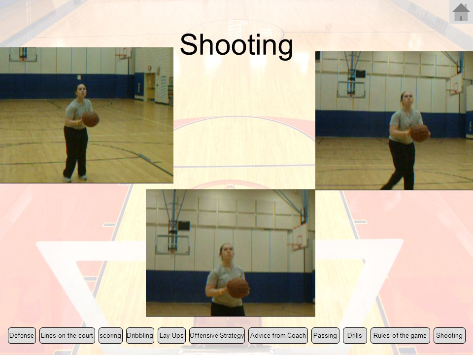 Shooting Rules of the game Lines on the court scoring Lay Ups Shooting
