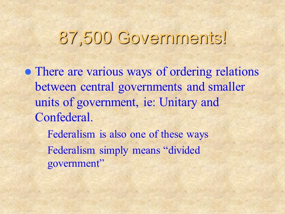 87,500 Governments!