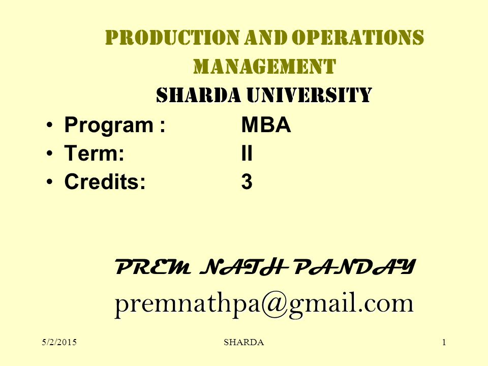 production and operation term paper Production operation management term paper: production operation management is the complex of efforts taken to control the process of production of goods and services from the stage of the material supply to the stage of the complete product.