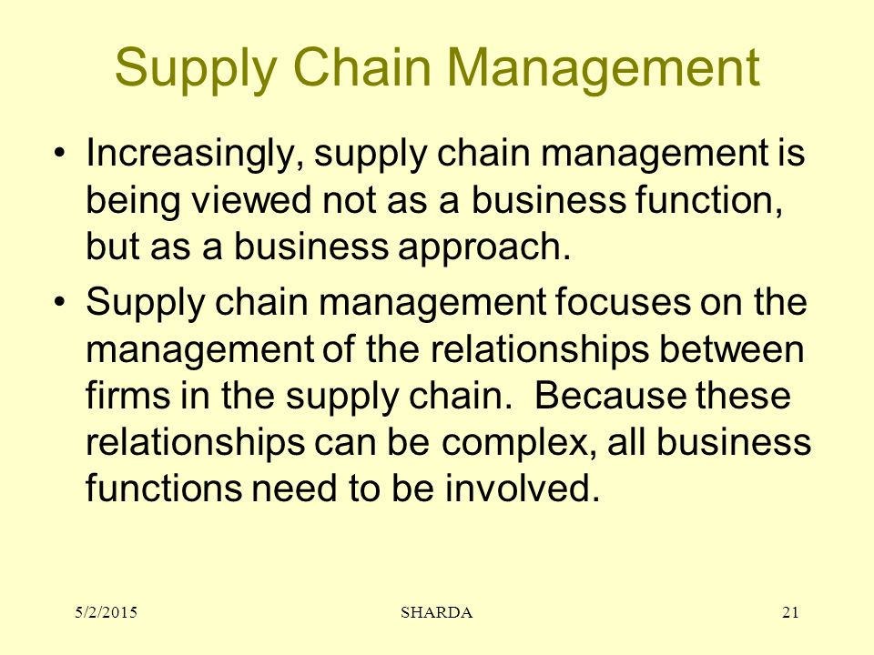 "supply management a complex function We helped a global consumer products company reduce its supply chain cost by about 10% in its european business by developing sustainable supply chain "" cost to serve"" analytics capabilities and helping model complex ""what if"" scenarios to inform its route to market strategy and future pricing decisions contact us."