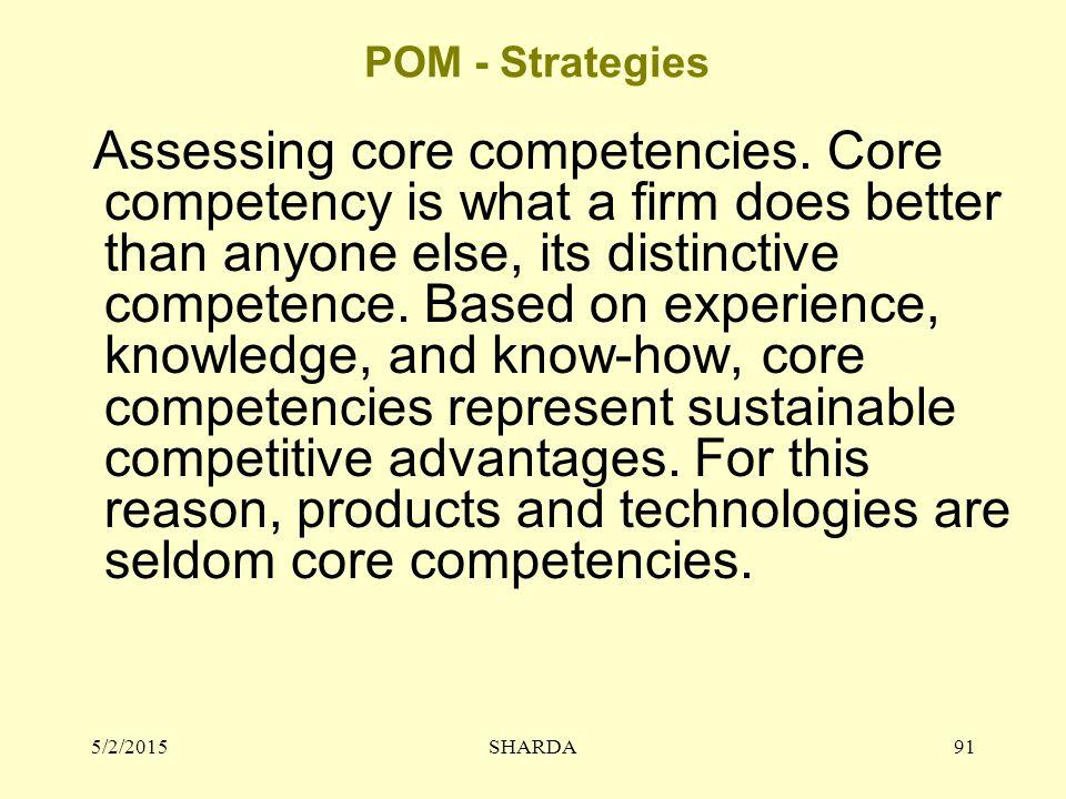 POM - Strategies