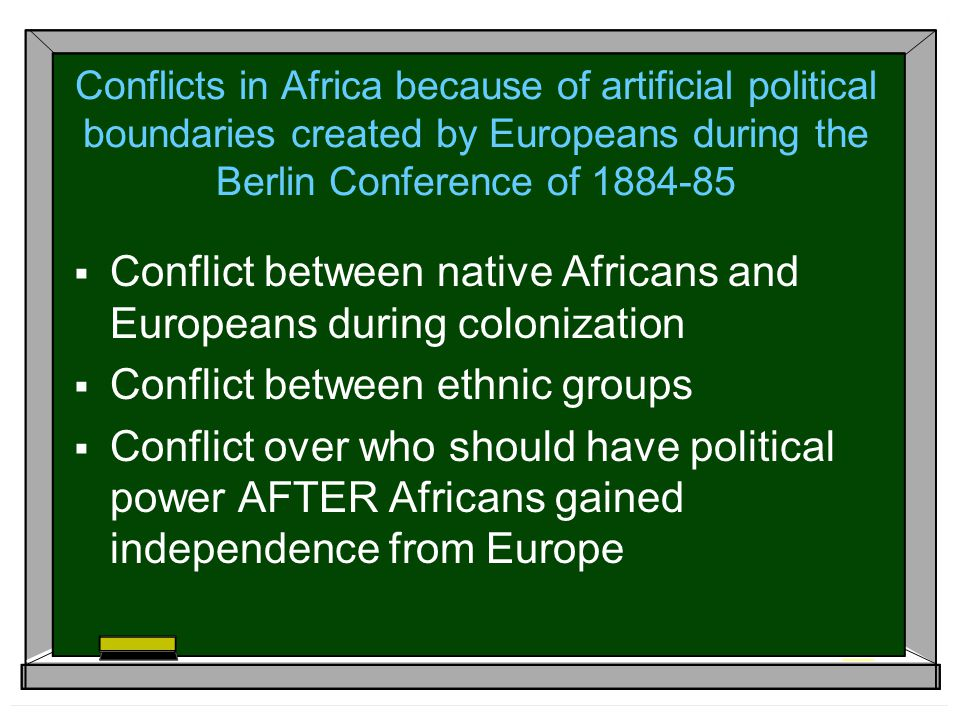 Conflict between native Africans and Europeans during colonization