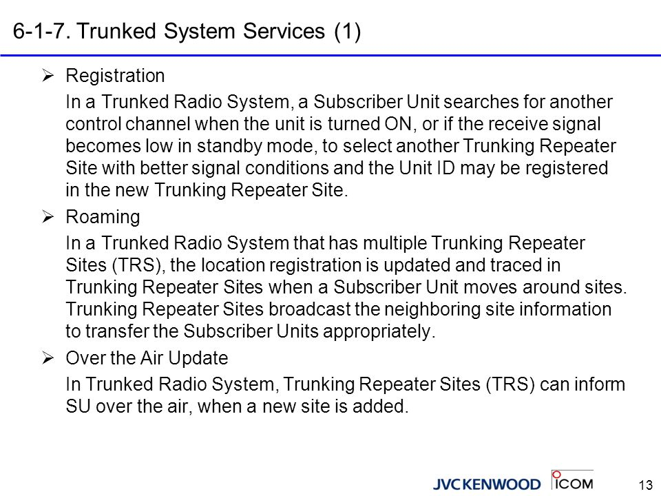 6-1-8. Trunked System Services (2)