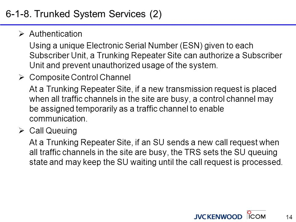 6-1-9. Trunked System Services (3)