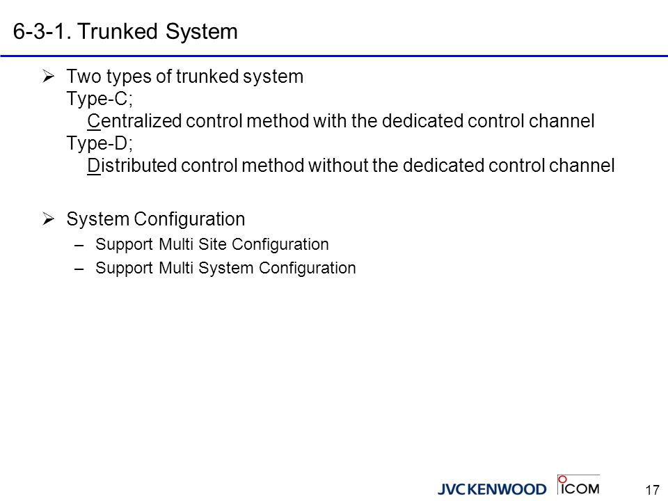 6-3-2. Type-C Trunked System