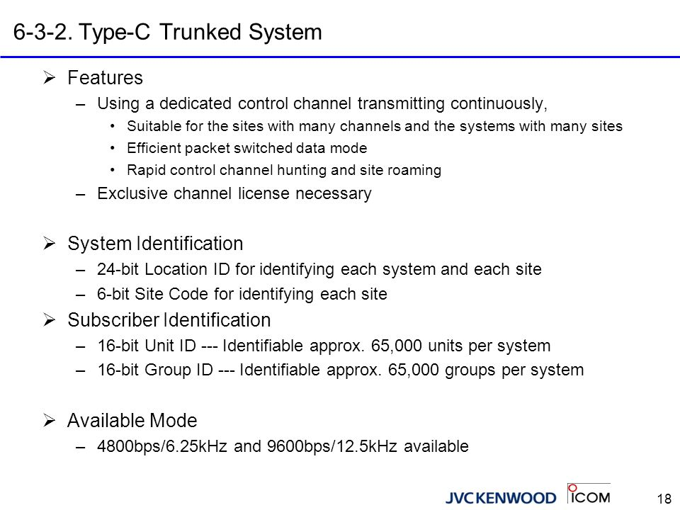 6-3-3. Type-D Trunked System