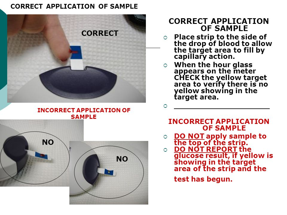 CORRECT APPLICATION OF SAMPLE