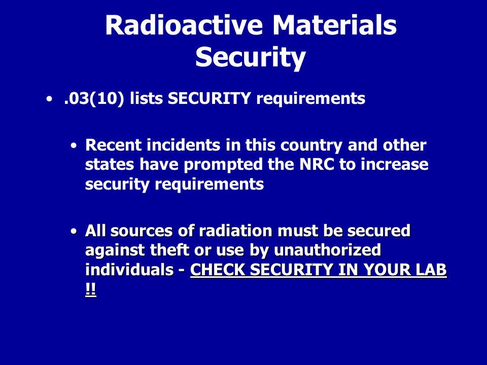 Radioactive Materials Security