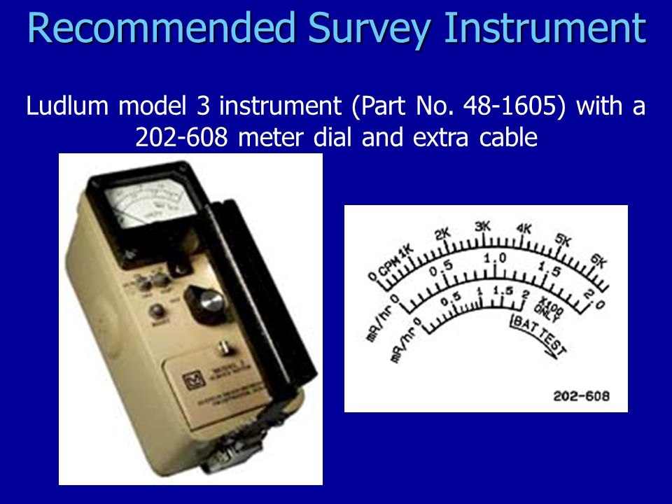Recommended Survey Instrument