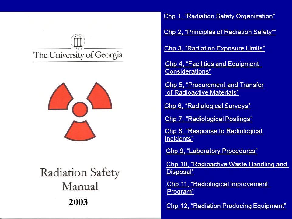 2003 Chp 1, Radiation Safety Organization