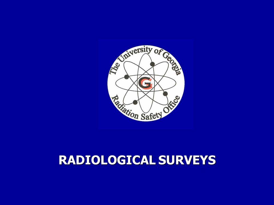 RADIOLOGICAL SURVEYS