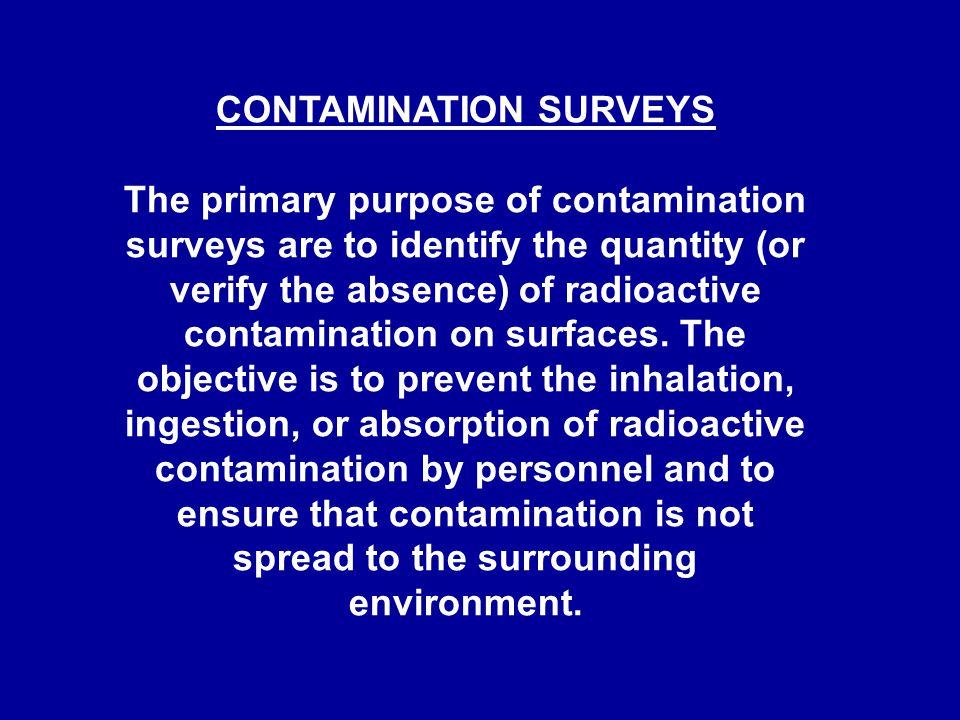 CONTAMINATION SURVEYS