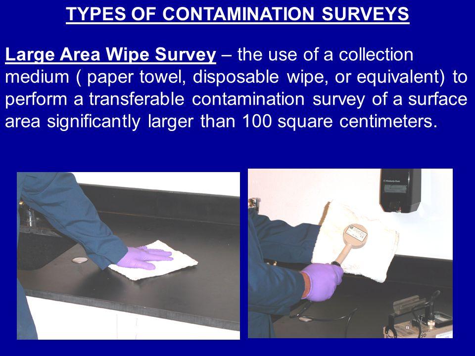 TYPES OF CONTAMINATION SURVEYS