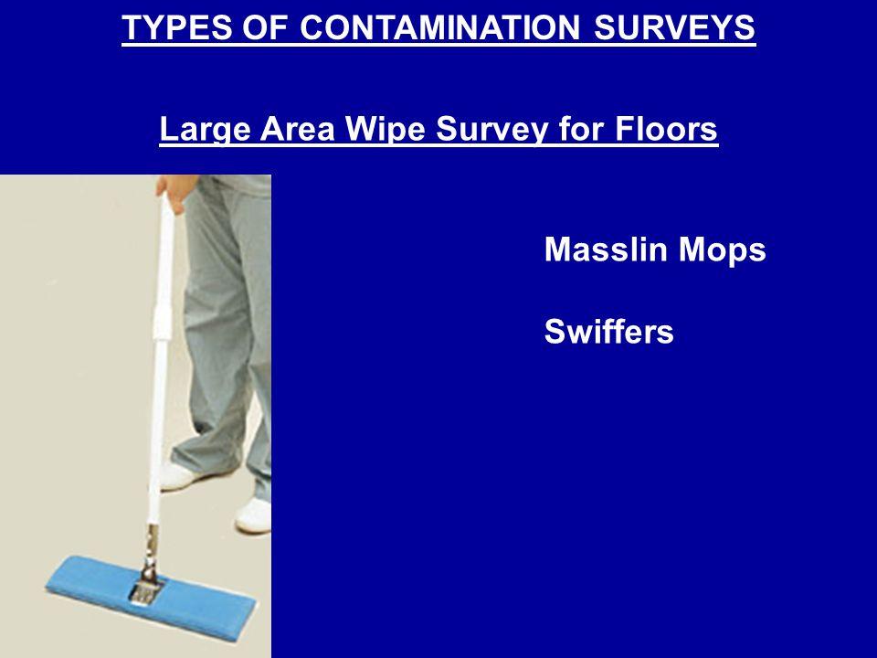 TYPES OF CONTAMINATION SURVEYS Large Area Wipe Survey for Floors