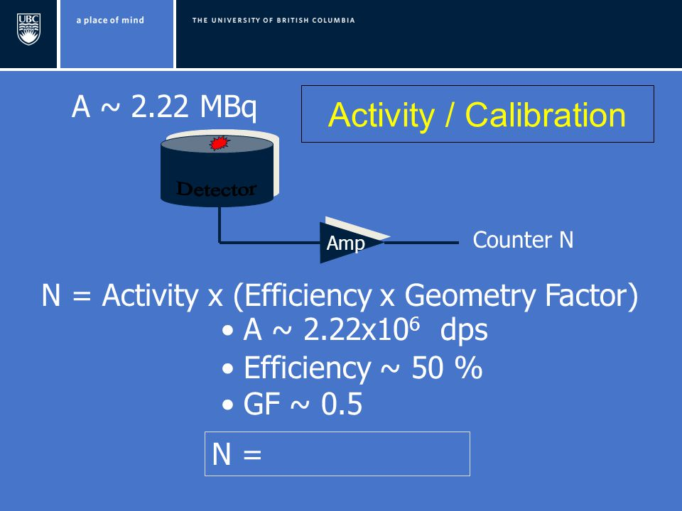 Activity / Calibration