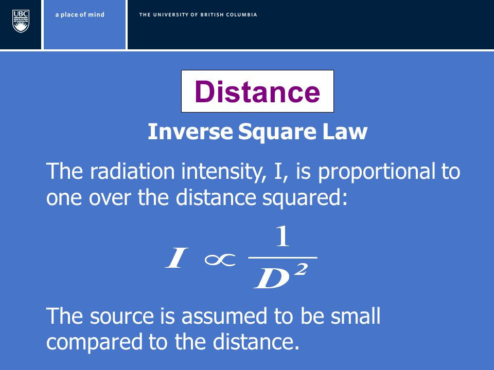 Distance Inverse Square Law