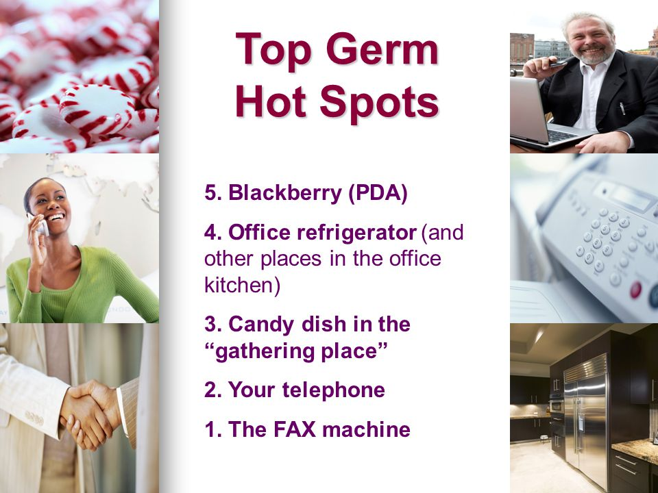 Top Germ Hot Spots 5. Blackberry (PDA)