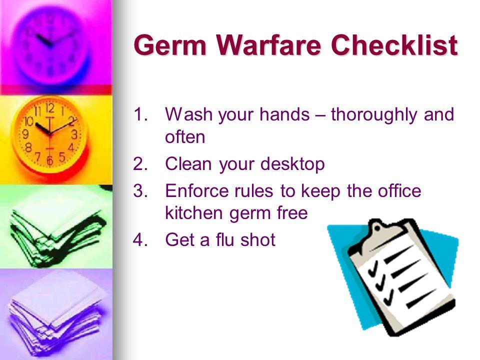 Germ Warfare Checklist