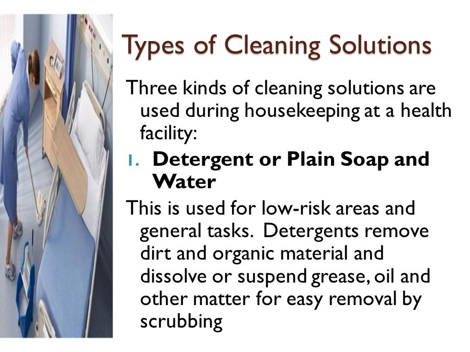 Types of Cleaning Solutions