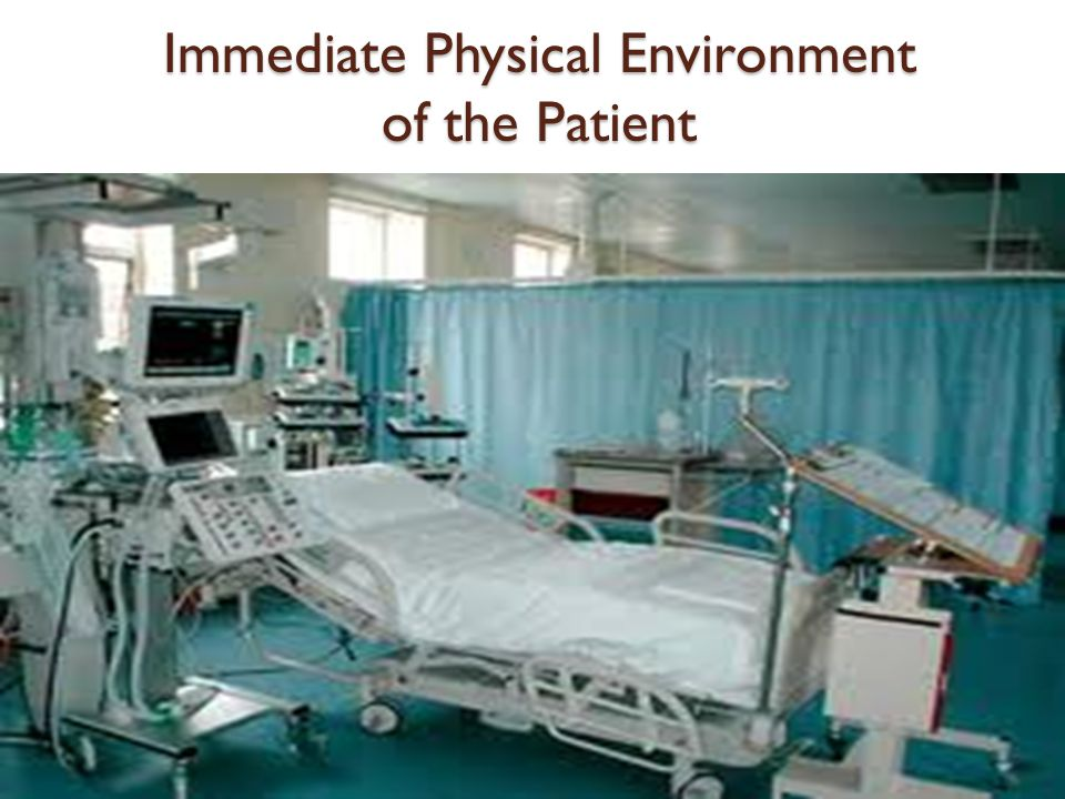 Immediate Physical Environment of the Patient