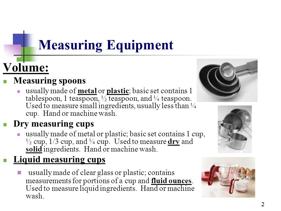 Measuring Equipment Volume: