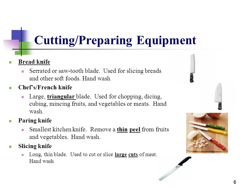 Cutting/Preparing Equipment