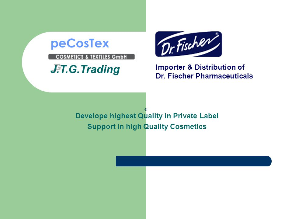 peCosTex J.T.G.Trading Importer & Distribution of