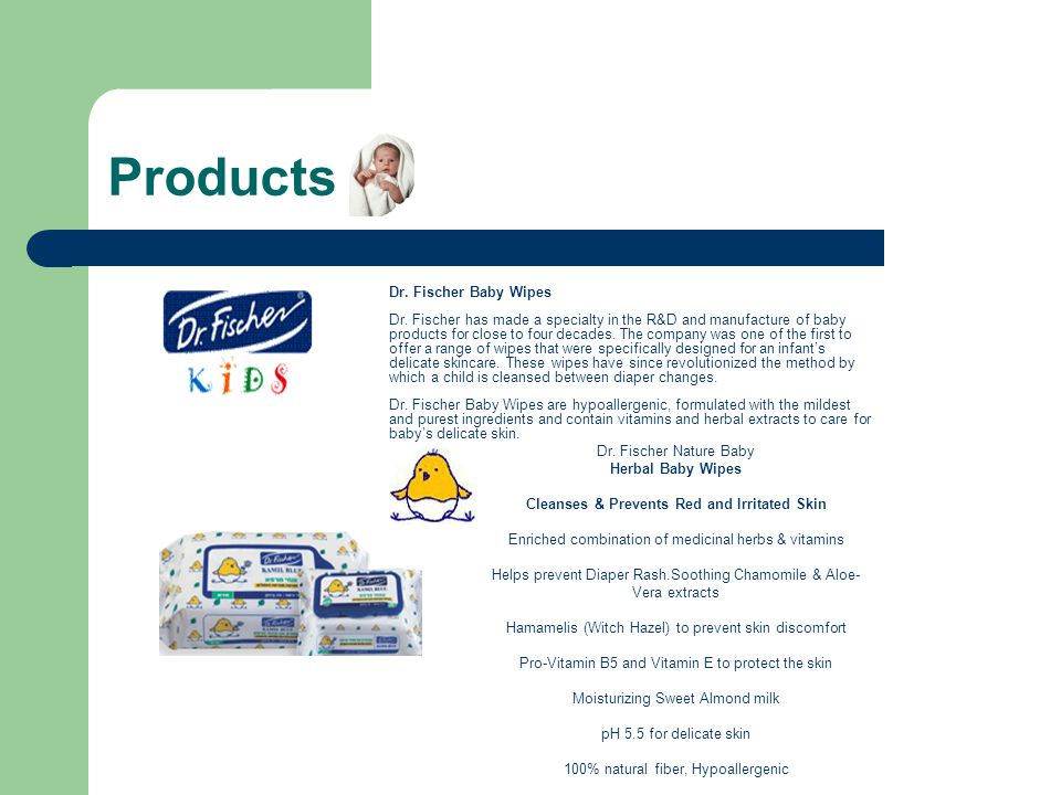 Products Dr. Fischer Nature Baby Herbal Baby Wipes