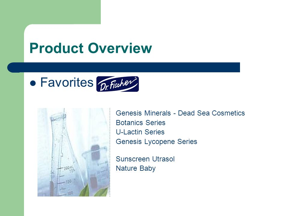 Product Overview Favorites Genesis Minerals - Dead Sea Cosmetics