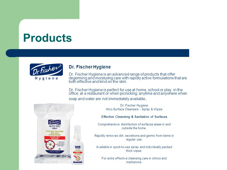 Products Dr. Fischer Hygiene
