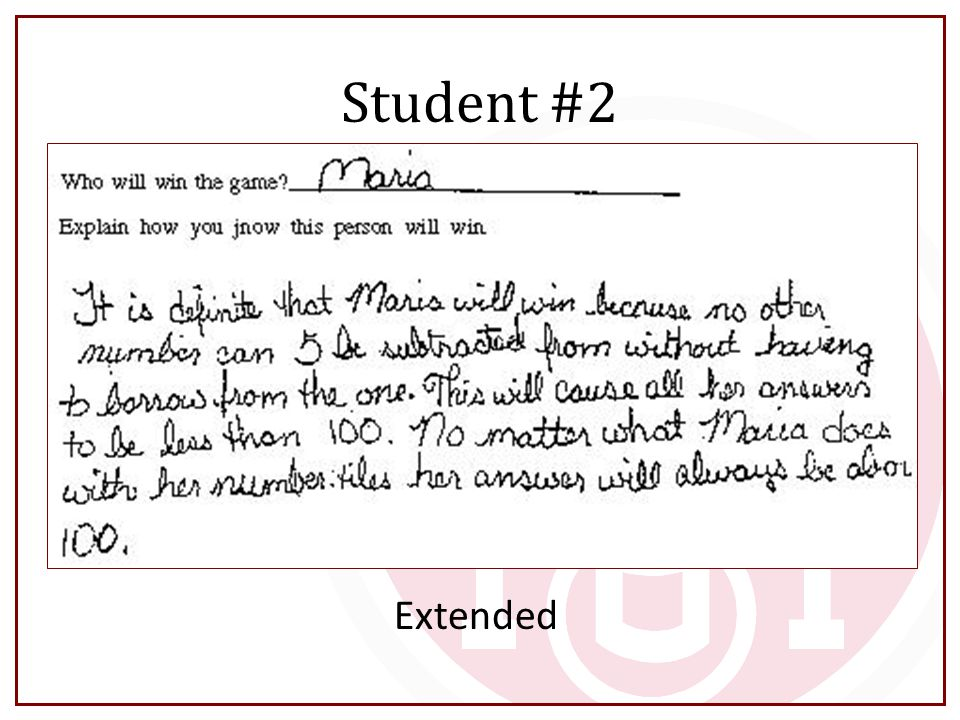 Student #2 Extended