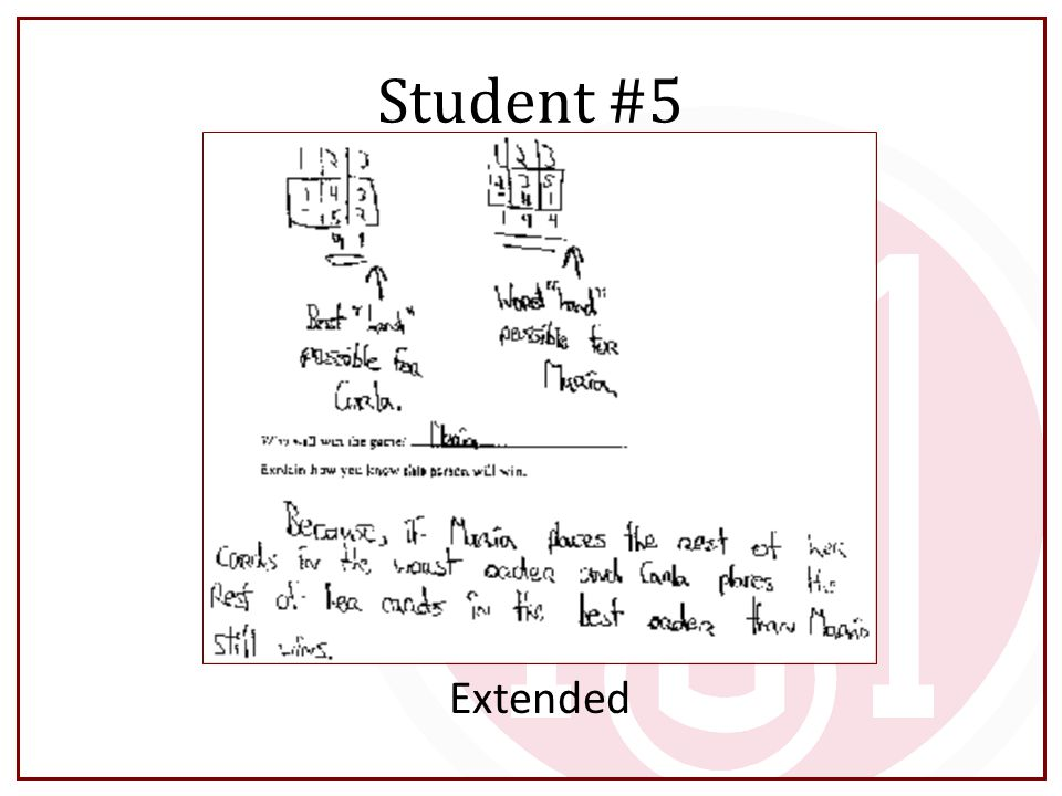 Student #5 Extended