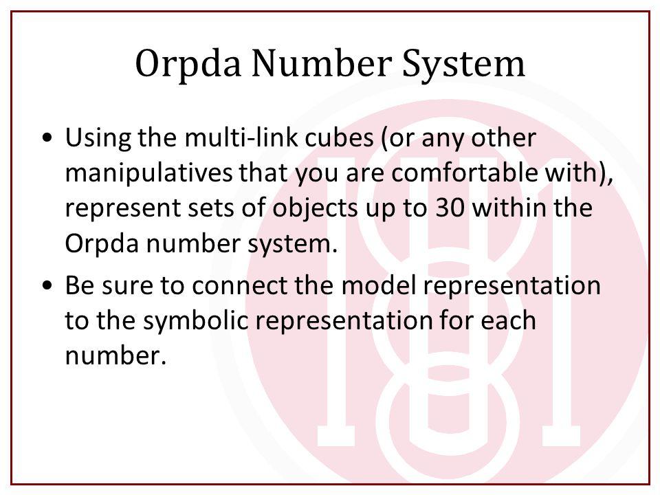 Orpda Number System