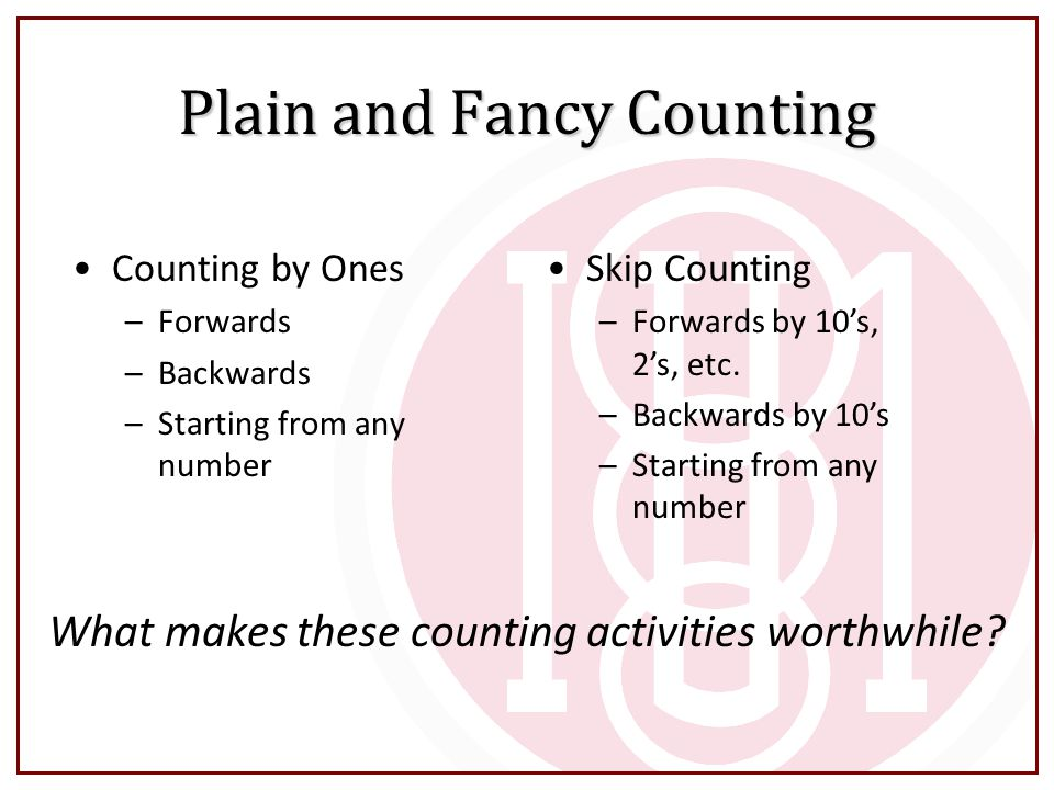Plain and Fancy Counting