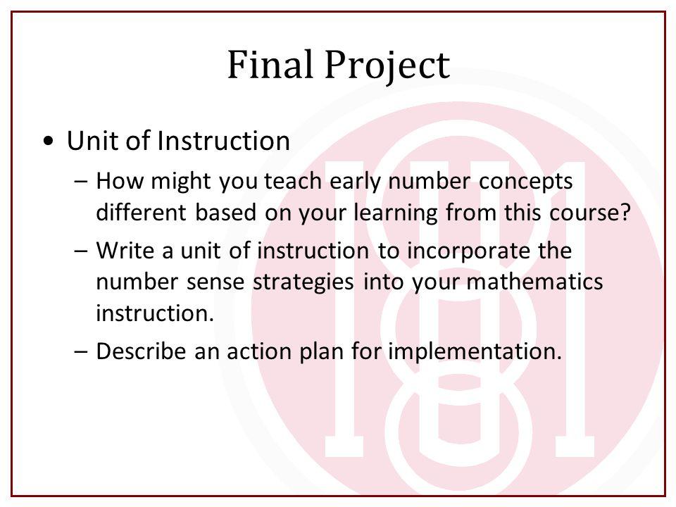Final Project Unit of Instruction