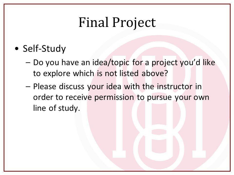 Final Project Self-Study