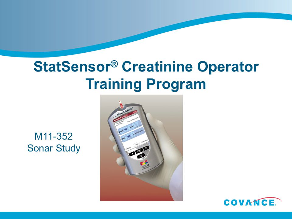 StatSensor® Creatinine Operator Training Program