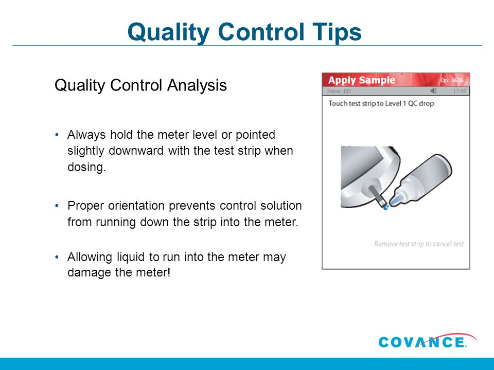Quality Control Tips Quality Control Analysis