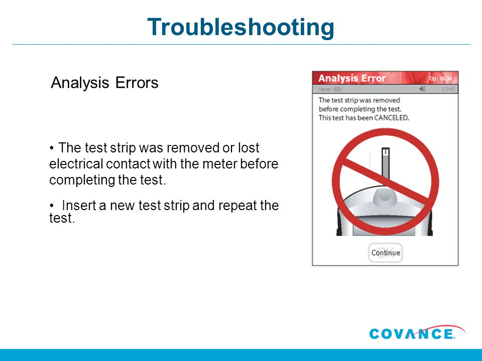 Troubleshooting Analysis Errors