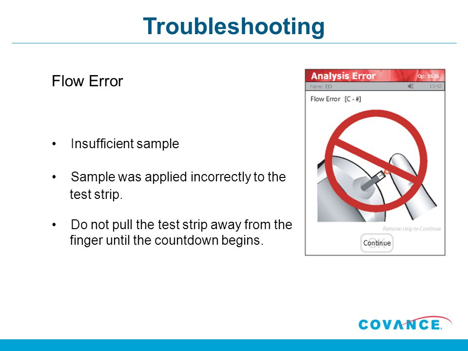 Troubleshooting Flow Error Insufficient sample