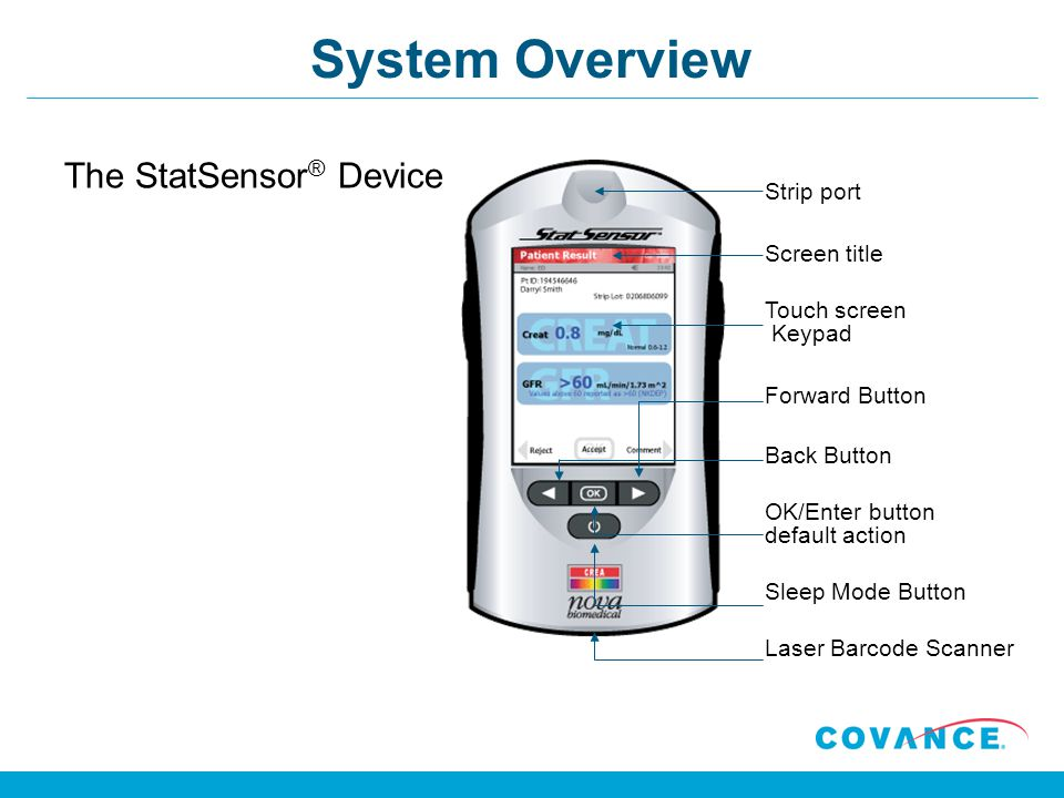 System Overview The StatSensor® Device