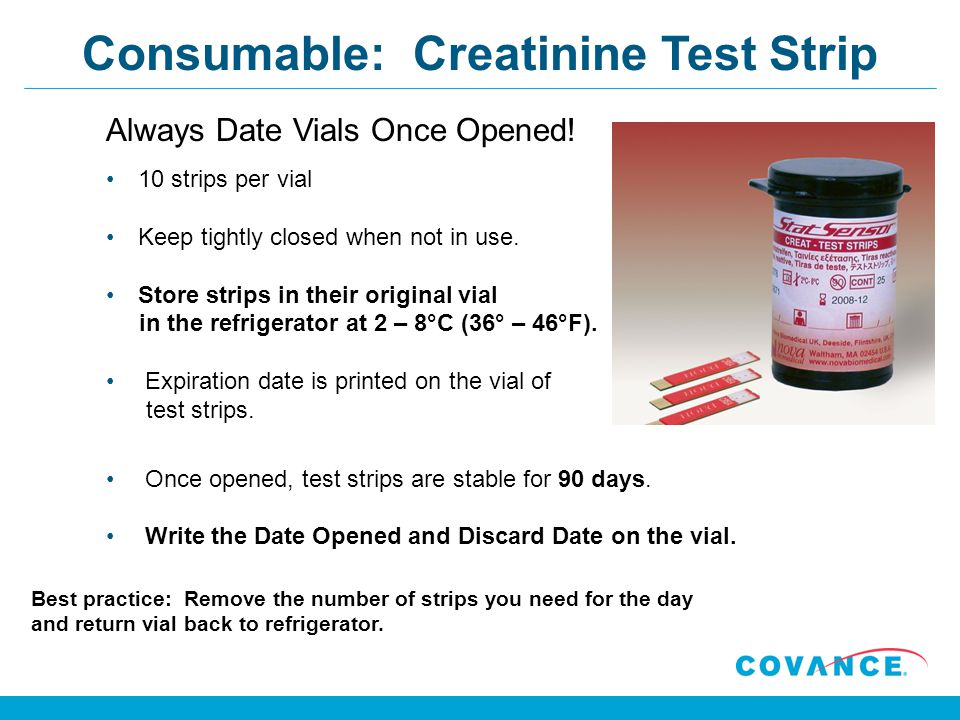 Consumable: Creatinine Test Strip